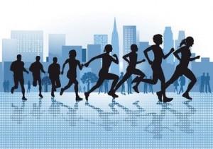 Laufen in der City