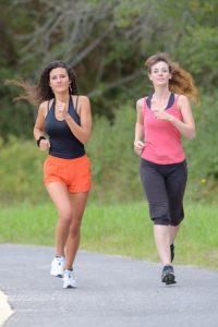 friends and jogging